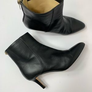 Jimmy Choo••Amore pebbled leather ankle booties